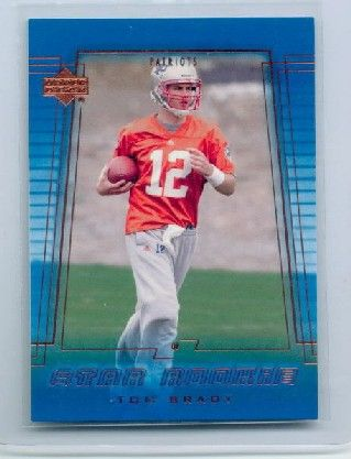 tom brady rookie card | You are bidding on a 2000 Upper Deck Tom Brady Rookie Card. This card ...