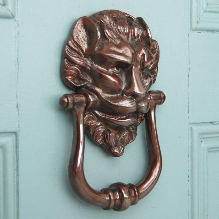 48 best panthera art images on pinterest door knockers door knobs and lion door knocker - Large lion head door knocker ...