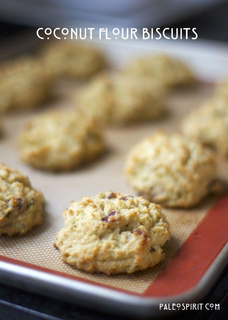 Coconut Flour Paleo Biscuits: Gluten/Grain/Dairy/Nut-free from PaleoSpirit.com