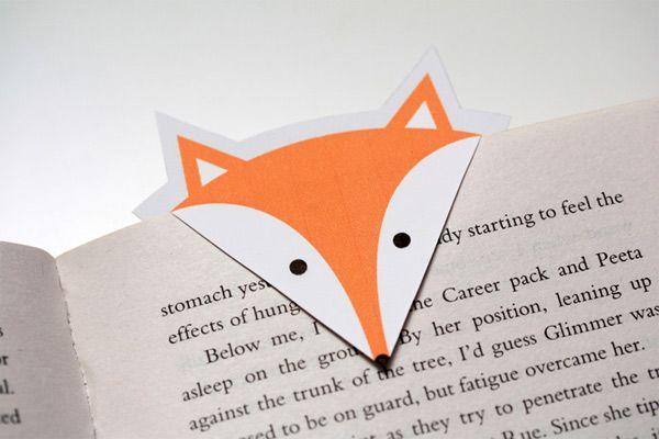 Süße selbstgemachte #Lesezeichen #lesen #bücher #booknerds #Fuchs #Lesefuchs