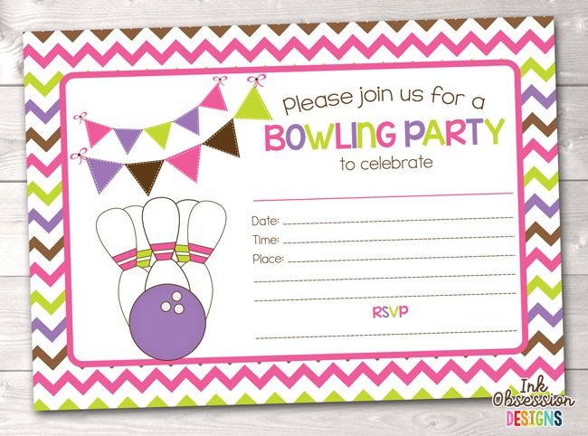 graphic regarding Printable Bowling Party Invitations referred to as cost-free printable bowling bash invites for children - Elim