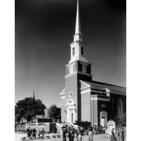 First United Methodist Church Gastonia North Carolina USA Canvas Art - (18 x 24)