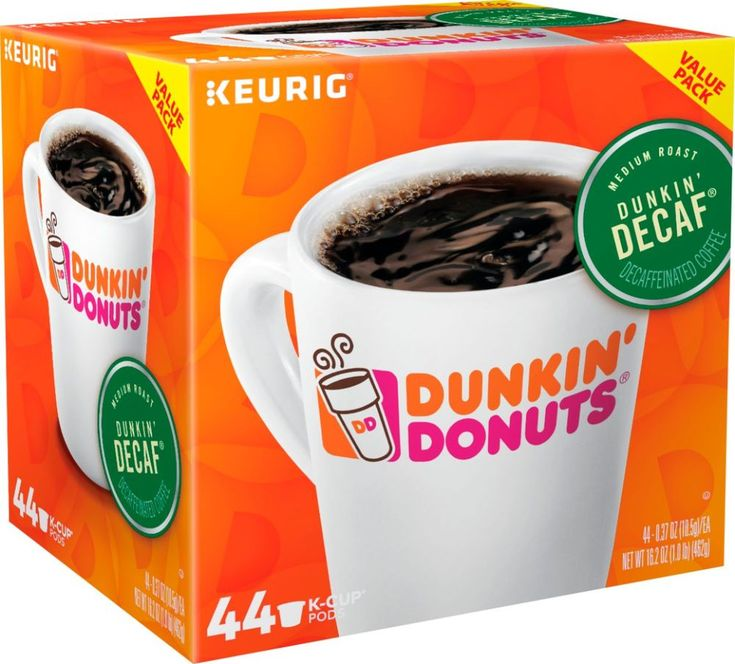 Dunkin donuts dunkin decaf kcup pods 44pack