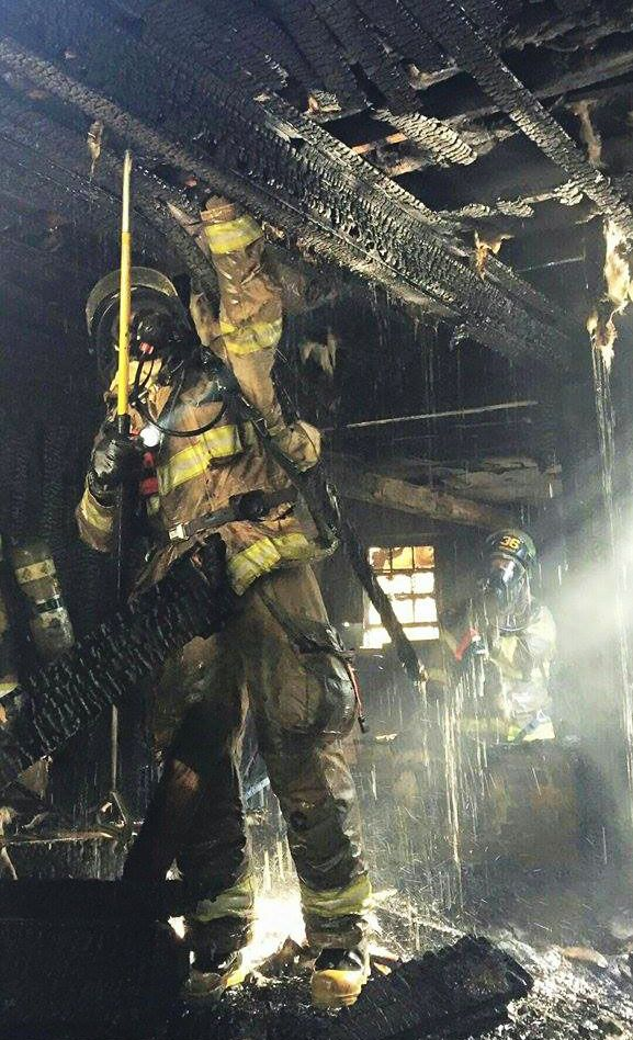 FIREGROUND ACTION: Check out this awesome shot of Jacksonville Fire and Rescue Department firefighters on the scene of a two-story house fire | Shared by LION