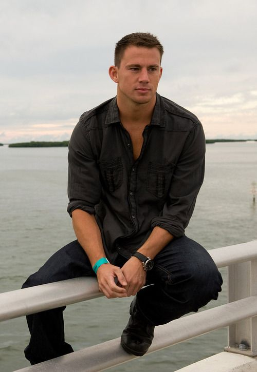 Channing Tatum... if you fall i will totally save you... or jump in and drown with you so we can die together