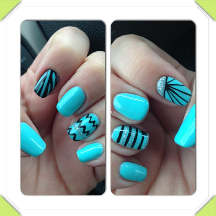 Tiffany Blue Gel Nail Polish: 1000+ Images About Nail Art I Have Done With Gel Polish On