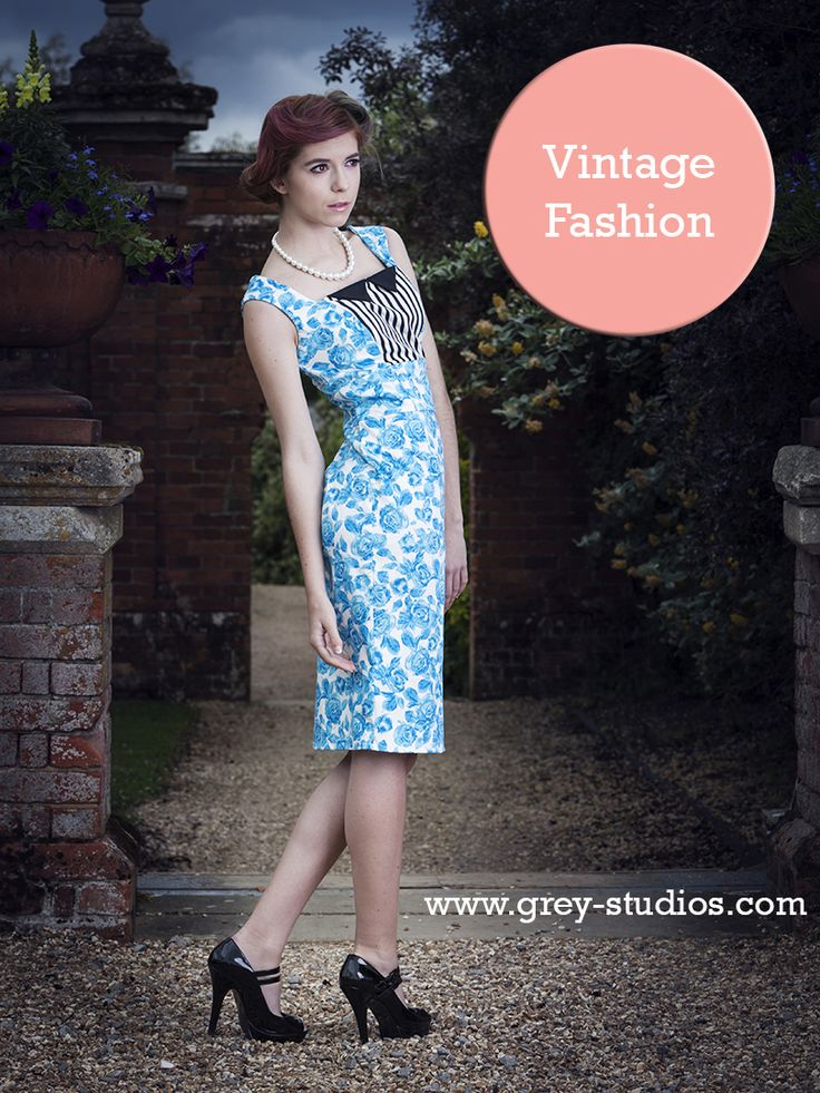 candy Love, from Contrariety Rose, blue flattering dress. #Vintage
