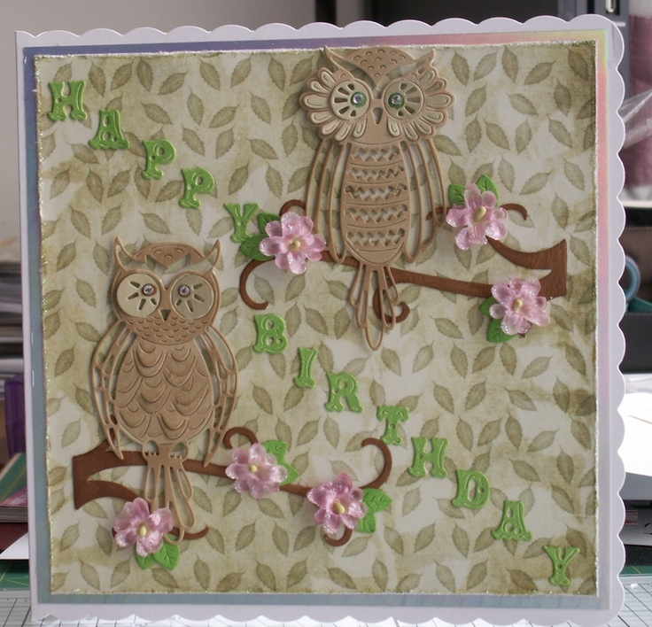 Two Tattered Lace owl cards by: jennyann