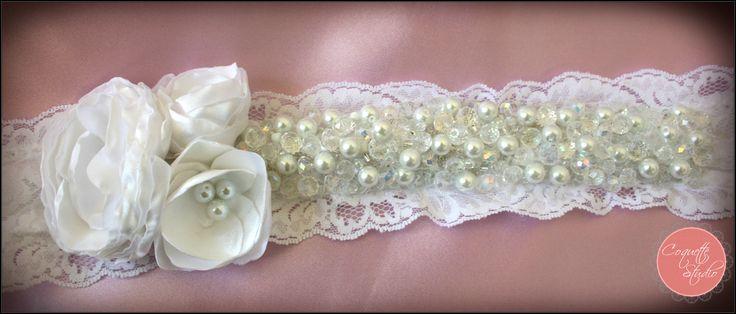 Bridal sash....handmade by Coquette Studio. coquette_studio@yahoo.com
