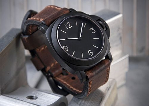 Matte Black Panerai Radiomir.  Perfect.  And mind-blowingly expensive...