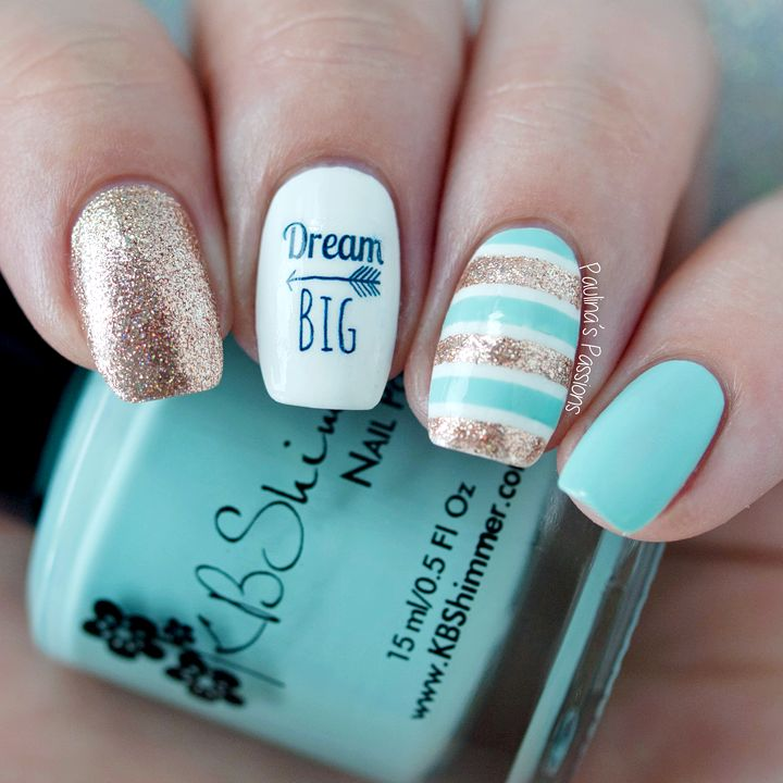 KellieGonzo: Guest Post by Paulina's Passions: Dream Big Nail Art