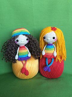Free crochet pattern doll Cute Amanda-the Little Dolly variation by Uljana Semikrasa on Ravelry. Written pattern available for download