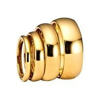 Gold Plated Tungsten Carbide Mirror Polished Ring 2, 3, 4, 5, 6 & 8mm Widths