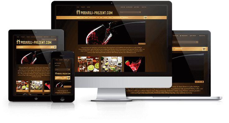 Responsywny sklep internetowy z prezentami alkoholowymi zaprojektowany i wykonany przez WiWi #responsive #design #webdesign #inspiration #Responsive #Web #layout