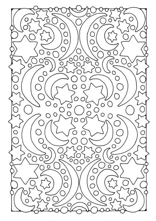 coloring page night moon and stars img 21909 silhouette cameo pinterest coloring