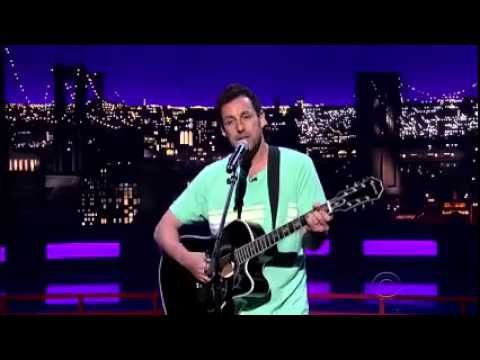 Adam Sandler Sings Farewell Song To David Letterman