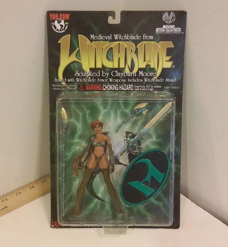 Witchblade Action-Figur im Jahr 1998 von Clayburn Moore geformt. Nie geöffnet worden, die Verpackung und Karton sind in toller Form mit keine offensichtlichen Beschädigungen, leichte Rückstände von einem Preis Aufkleber auf die Kunststoff-Spitze leicht abziehen sollten. Figur