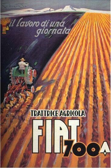 Vintage Fiat Tractor Advertisement Poster A3 Print