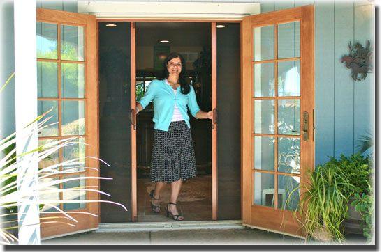 retractable screen for outswing patio door