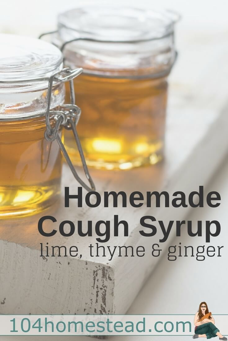 Was the elderberry syrup not potent enough to keep the colds at bay? Need a little something between doses of fire cider? Homemade cough syrup with the medicinal properties of lime, thyme, and ginger is probably just what you need. And don't forget about the honey. Honey for coughs is probably the original home remedy.