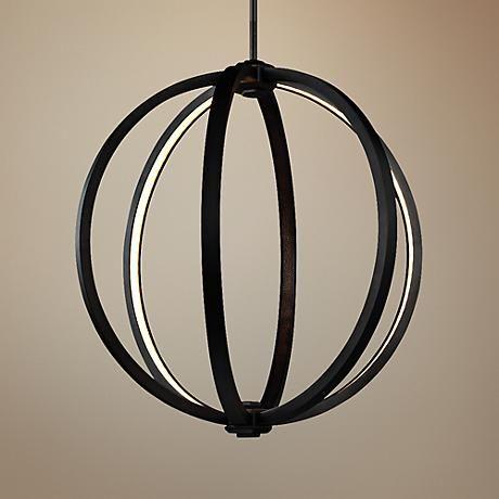 986 best lighting pendants images on pinterest chandelier feiss klohe 20 wide oil rubbed bronze led orb pendant aloadofball Gallery