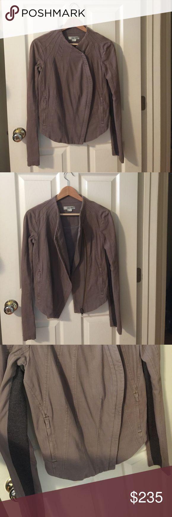 Helmut Lang blazer jacket Helmut Lang blazer jacket. Knit arms. Zippers on sleeves. Looks amazing on. Helmut Lang Jackets & Coats