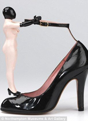 Naked Lady ankle strap shoe (1978): Part shoe, part work of art - this shoe proves that BDSM was alive and whipping well ahead of the Fifty Shades effect