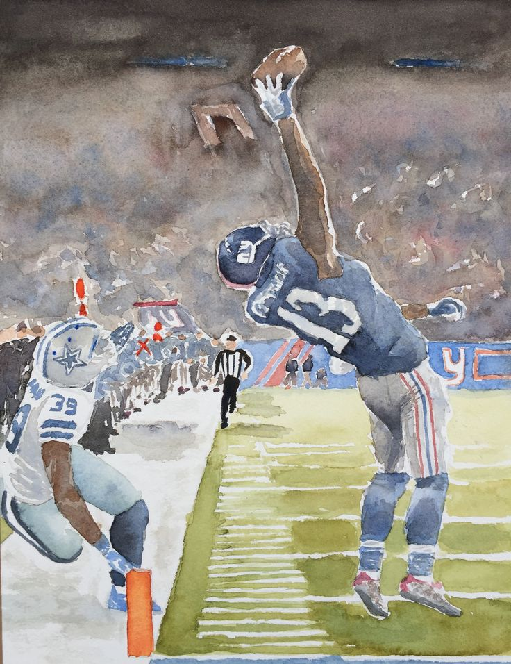 """Odell's Catch Watercolor 10""""x14"""""""