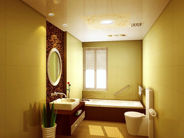 16 best images about lovely yellow bathrooms on pinterest for Yellow bathroom decor