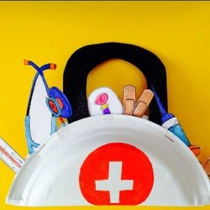 Paper plate doctor bag craft community helpers crafts for Consumer crafts discount code
