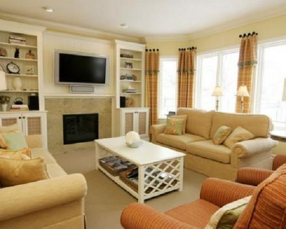 Decorating ideas for small family room with fireplace