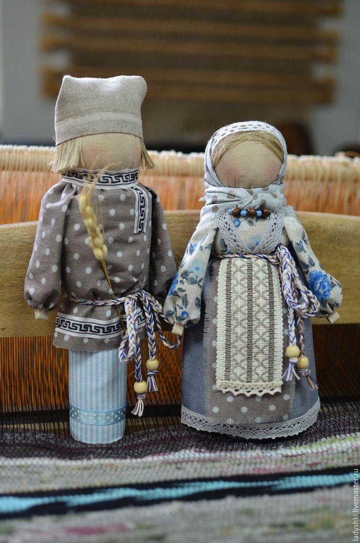 Купить Народная кукла оберег-Мурашинская парочка. - разноцветный, оберег, оберег для дома, обереги в подарок