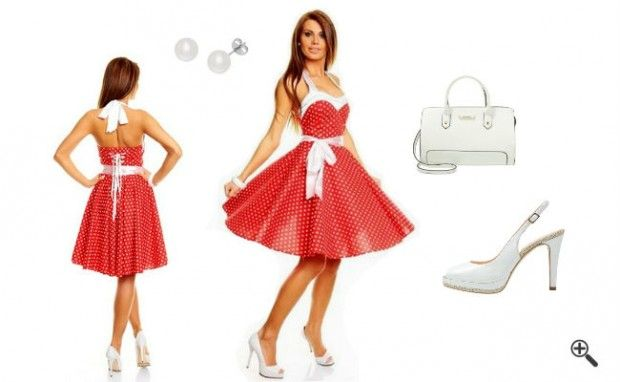 Rockabilly Kleid in Rot + 3 50er Outfits für Lusi: http://www.fancybeast.de/rockabilly-kleid-rot/ #Rockabilly #Rot #50er #Petticoat #Kleider #Dress #Outfit Rockabilly Kleid Rot 50er Outfit