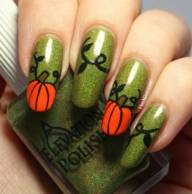 The Polish Playground Glittery Autumn Leaf Nail Art: 13 Best Images About Fall Nails On Pinterest