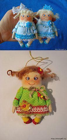 Мастер-класс куколок-снежинок от Соболевой Наташи( ЯНаталия )