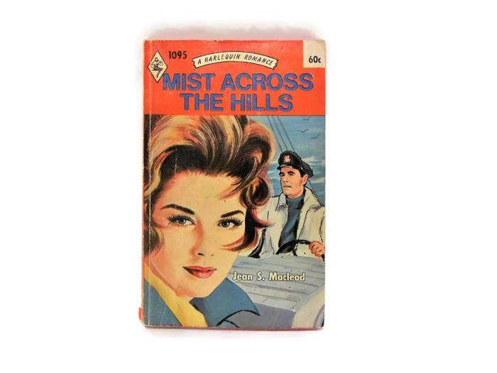 Vintage Harlequin Romance Novel/ Mist Across The Hills by Jean S. Macleod/ Retro 1970s Cover Art/ Vintage Bookshelf Decor/ Shipwreck Romance by KMVintageTreasures on Etsy