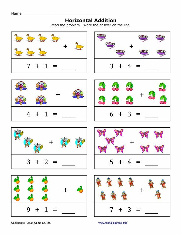 Adding Worksheet Elementary : Best horizontal addition images on pinterest math