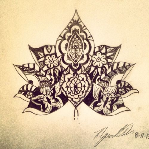 Lotus design, would like to add my own designs in the petals.