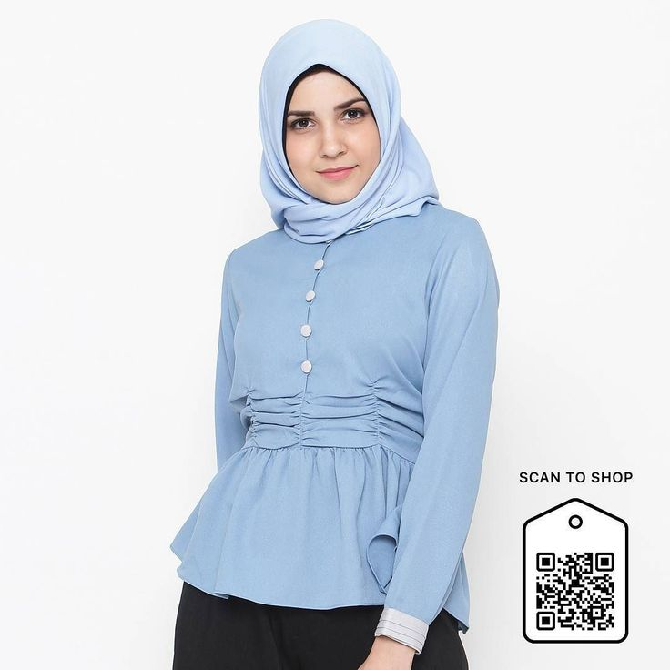 And finally... Giong Top blue now also available at blibli.com. To shop at our store simply cek www.eclemix.com or scan the code. You can also contact our admin at : line@: @eclemix  or WA: 081326004010. Happy shopping :) . #eclemix #eclemixcatalog #hijab #fashion #ootd #bandung #localbrand #beauty #top #bliblisekarang