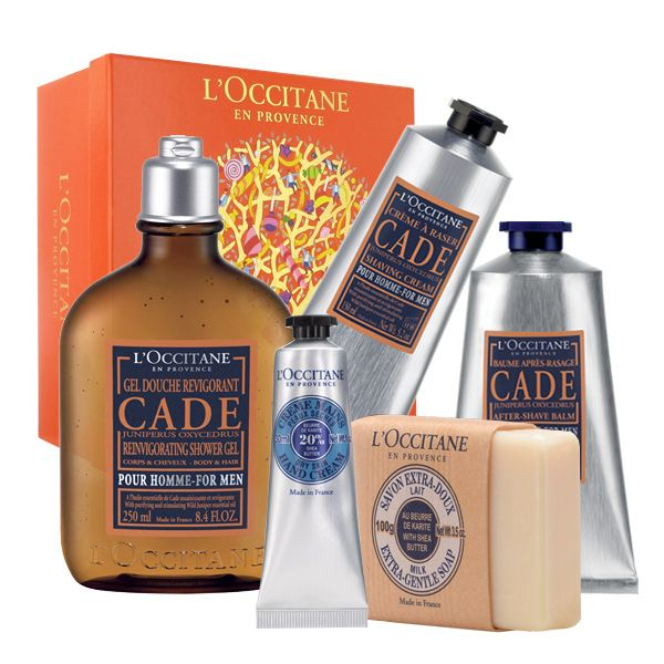 A man's shave is almost as important as what he's wearing. L'Occitane's Cade shaving kit for men.