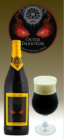Outer Darkness Russian Imperial Stout beer, as plugged on BuzzPlugg