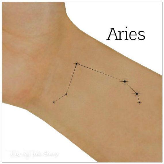 Aries Temporary Tattoo Zodiac Star Constellation  by UnrealInkShop