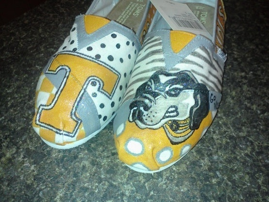 Tennessee Vols TOMS. @Kammie Yates muahahahahahaa!!!