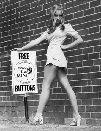 Mini skirts (late 60's) note the chunky shoes