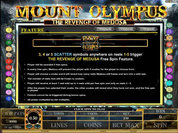 Бонусная игра на игровых слот автоматах Гора Олимп