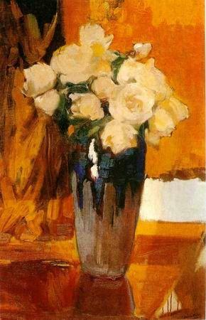 Rosas blancas.