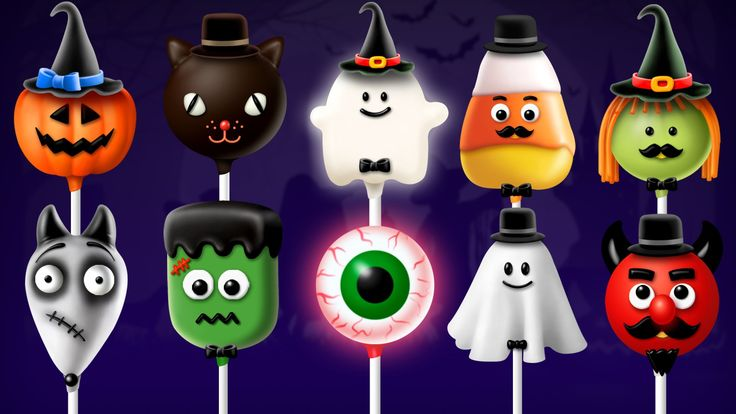 Halloween Cake Pop Finger Family Collection   Top 10 Finger Family Songs for kids
