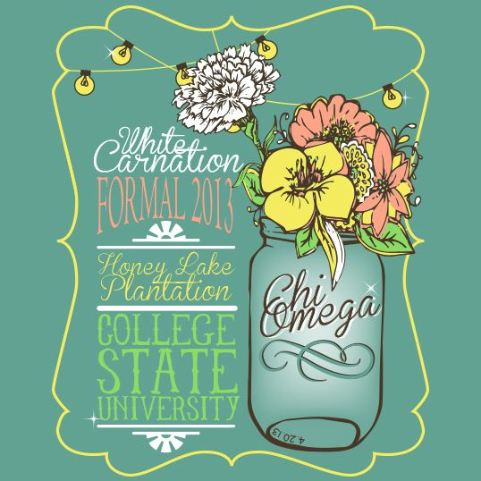 Shirts For Greeks | Design changes For our new carnation ball