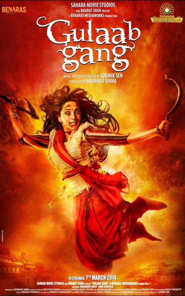Guys here's the first look of @GulaabGang @Darren Goble Advertisers  #bollywood #Movies #madhuri dixit #huma qureshi