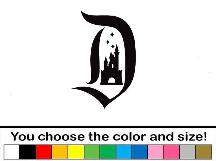 Disney castle decal sticker car truck laptop disneyland world by finedecalshop on etsy